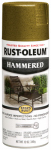 Rust-Oleum 7210-830 Stops Rust Spray Paint, Gold Hammered, 12-oz.