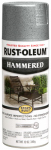 Rust-Oleum 7213-830 Stops Rust Spray Paint, Silver Hammered, 12-oz.
