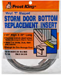 Thermwell T3750 37-Inch Gray Vinyl Storm Door Bottom T Section Insert