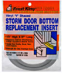 Thermwell Y3750 37-Inch Gray Vinyl Storm Door Bottom Y Section Insert