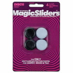 Magic Sliders L P 04225 Surface Protectors, Chair & Table Grips, 7/8 x 1-In., 4-Pk.