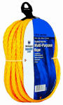 Wellington Cordage 30646 3/8-Inch x 50-Ft. Yellow Monofilament Polypropylene Rope