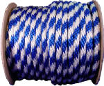 Mibro Group (The) 46406 Multi-Filament Polypropylene Derby Rope, Blue & White, 0.625-In. x 200-Ft.