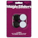 Magic Sliders L P 04273 Surface Protectors, Chair & Table Grips, 1-1/8 x 1-1/4-In., 4-Pk.