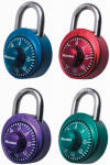 Master Lock 1530DCM Combination Lock, 3-Digit, Assorted Anodized Colors