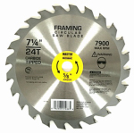 Disston 694374 Framing Combo Circular Saw Blade, 24T, 7-1/4-In.