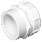 Charlotte Pipe & Foundry PVC 00103P 0800HA Male Trap Adapter, PVC/DWV, S x SJ, White, 1.5 x 1.5-In.