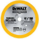 Dewalt Accessories DW9153 6.5-In. 90-TPI Vinyl & Panel Circular Saw Blade