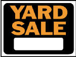 "Hy-Ko Prod 3033 9 x 12-Inch Hy-Glo Orange/ Black Plastic ""Yard Sale"" Sign"