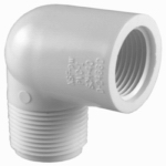 Genova Products 32707 Pipe Fitting, PVC Street Elbow, 90-Degree, White, 3/4-In.