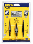 Irwin Industrial Tool 10502ZR 3-Piece Unibit Drill Set