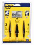 Irwin Industrial Tool 10502ZR 3-Piece Unibit Drill Set