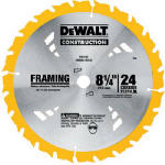 Dewalt Accessories DW3182 8.25-Inch 24-TPI Carbide Combination Blade