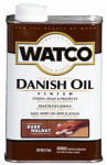 Rust-Oleum 65851 Watco Danish Oil Wood Finish, Dark Walnut, 1-Pt.