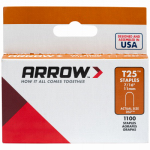 Arrow Fastener 257 1000-Pack T25 7/16-Inch Staple