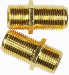 Audiovox VH66N Feed Thru Coaxial Cable Coupler, 2-Pk.