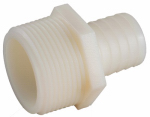 "Anderson Metals 53701-1216 3/4"" I.D. x 1"" Male Pipe Thread, Nylon Hose Barb."