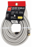 Audiovox DH25QCF Quad Shield RF6 Coaxial Cable, Gray, 18-AWG, 25-Ft.