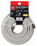 Audiovox DH50QCF RG6 Coaxial Cable, 18 AWG Gray Quad Shield, 50-Ft.