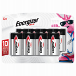 Eveready Battery E95BP-8H Alkaline Batteries, D, 8-Pk.
