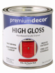 True Value Mfg PDL96-HP Fiesta Red Gloss Enamel Paint, 1/2-Pt.