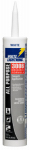 White Lightning Product W12AF0010 Adhesive Caulk, White, 10-oz.