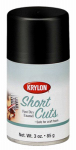 Krylon Diversified Brands SCS054 Short Cuts Spray Paint, Gloss Black, 3-oz.