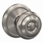 Schlage Lock F10V GEO 619 Satin Nickel Georgian Passage Lockset