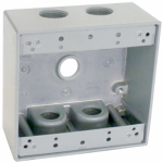 Hubbell Electrical Products TGB50-5 Gray 2-Gang Outlet Box