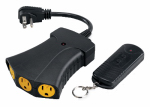 Kab Enterprise RC-012-1/TR-009-1B Remote Controlled Power Hub, Outdoor Use, 3 Outlets