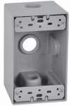 Hubbell Electrical Products DB50-3 Single-Gang Deep Outlet Box, Weatherproof, Gray