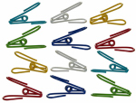 Progressive GT-6012 Bag Clips, Wire, Assorted Colors, 12-Pk.