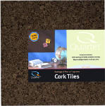 Acco Brands 15050Q Cork Tiles, Dark, Self-Stick, 12 x 12-In., 4-Pk.