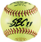 Spalding Sports Div Russell 4Y-611P 11-Inch Dudley Fast-Pitch Yellow Softball