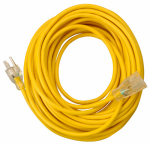 Southwire/Coleman Cable 01487 Outdoor Extension Cord, Contractor Grade, Yellow Polar Solar, 14/3 SJEOW, 25-Ft.