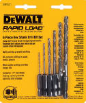Dewalt Accessories DW2551 6-Piece Hex Shank Drill Bit Set