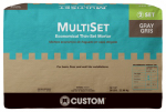 Custom Bldg Products MSMG50 Multi-Set Modified Thin-Set Mortar, Gray, 50-Lbs.