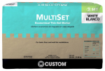 Custom Bldg Products MSMW50 Multi-Set Modified Thin-Set Mortar, White, 50-Lbs.