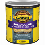 Cabot/Valspar 0801-05 PRO V.T. Acrylic Latex Siding Stain, White Base, Solid Color, 1-Qt.