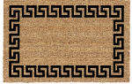 U S Cocoa Mat 31681 Doormat, Outdoor, Greek Key Pattern, Cocoa Natural Coir With Vinyl Back, 18 x 30-In.