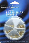 Maurice Sporting Goods 1002 Brass Snap Fishing Swivel, 24-Pk.