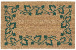 U S Cocoa Mat 31509 Doormat, Outdoor, Ivory Pattern, Natural Coir With Vinyl Back, 18 x 30-In.