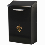Solar Group BW110000 Wall Mailbox, Vertical, Black Galvanized Steel, Small, 9.75 x 6 x 2.5-In.