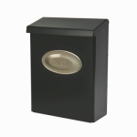 Solar Group DVK00000 Designer Series Wall Mailbox With Lock, Vertical, Black Galvanized Steel, XL, 12.5 x 9.5 x 4-In.