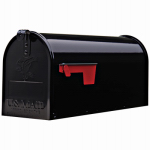 Solar Group E1100B00 Elite Post Mailbox, Black Galvanized, 8.75 x 6.75 x 19-In.