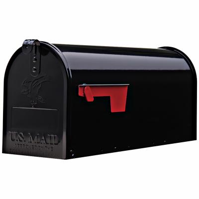 e1100b00 elite post mount mailbox medium black