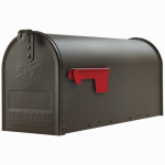 Solar Group E1100BZ0 Elite Post Mailbox, Bronze Galvanized, 8.75 x 6.75 x 19-In.