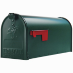 Solar Group E1100G00 Elite Post Mailbox, Green Galvanized, 8.75 x 6.75 x 19-In.
