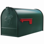 Solar Group E1600G00 Elite Post Mailbox, Green Galvanized, Large, 10.87 x 8.5 x 20.25-In.
