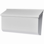 Solar Group L4009WW0 Woodlands Wall Mailbox, Horizontal, White Galvanized Steel, XL, 9.75 x 16.37 x 4.62-In.